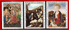 DAHOMEY 1966 RELIGIOUS PAINTINGS / CHRISTMAS SC#C46-48  MNH (E15-7)