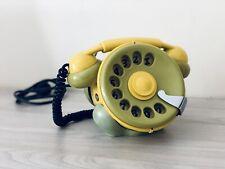 Telefono Telcer Bobo design Sergio Tedeschini giallo e verde anni 70 vintage