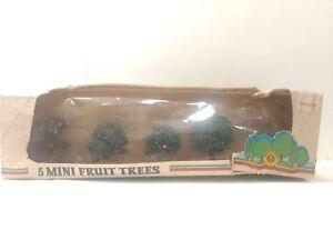 Bachmann Scenic Products 5 Mini Fruit Trees Model Railroad HO Scale tr598