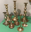 Lot+8+Shiny+Brass+Candle+Sticks+Holders++Weddings