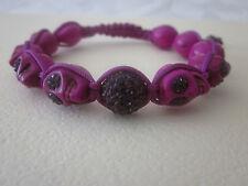 purple skull shamballa bracelet