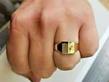 Solid Gold Signet Ring in 9 carat gold, Mens Jewellery, UK hallmarked Gold #Ms