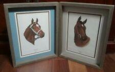 Kentucky Derby Winner's Secretariat & Cannonade Framed Art by Letitia de Rham