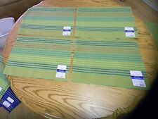 NEW Set Of Four Green Spicy Lime Stripe Placemats 14 in W x 19 in L by MAINSTAYS