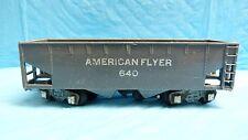 "AMERICAN FLYER 640 PA-9970 GREY OPEN TOP TENDER CAR 6.5"" L RAILROAD HO SCALE *4D"