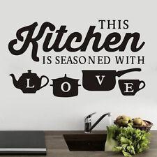 Creative KITCHEN Wall Sticker Vinyl Removable Decal Art Mural Kitchen Decor DIY