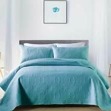 3-Piece Quilt Set Soft Warm Coverlet Bedding Bedspread Lightweight Full Queen