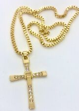 Czs Pendant and 20 inch chain cp3002 10k Yellow Gold Plated Large Cross With