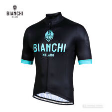 Bianchi Milano LEVANE Thermal Short Sleeve Cycling Jersey : BLACK