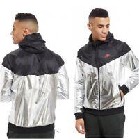 Nike Sportswear Windrunner Jacket 924515-707 Black Metallic Silver MEDIUM NEW