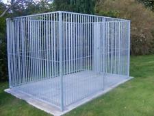 Doghealth galvanised panel dog run, 6 panels 3m x 1.5m + feeding bowl