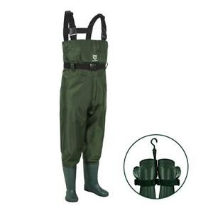 TideWe Kids Size 8-9 Chest Waders Youth Waders PVC Chest Waders & Boot Hanger