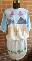 Vintage Funky 80's Inventions by L.A. Express Tunic One Size Southwest Pattern