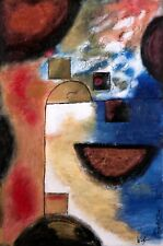 Whitizman Original Fine Art Bright Colors Famous Poem in the Clouds $1000. Blue