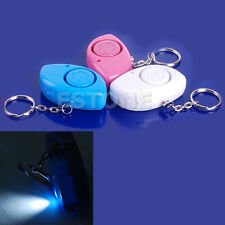 2 in 1 Mini Personal 120dB Security Alarm Siren Light Keychain