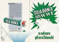 X9679 GOLIA BIANCA aiuta il WWF a salvare gli orsi_Pubblicità 1991 - Advertising