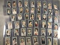COMPLETE SET of 50 1934 GODFREY PHILLIPS FILM FAVOURITES TOBACCO CARDS
