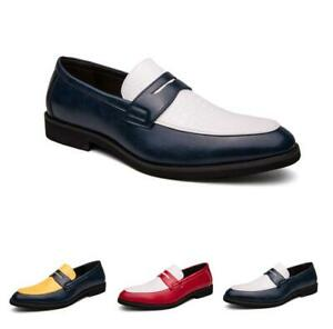 Mens Pointy Toe Wedding Dress Formal Work Casual Oxfords Leather Business Shoes