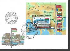 HONGRIE PREMIER JOUR FDC BLOC FEUILLET EUROPA 1981 NON DENTELÉ