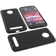 Custodia Per Lenovo / Motorola Moto Z2 Force Protettiva TPU Gomma Nera
