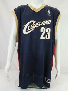 Reebok LeBron James #23 Cleveland Cavaliers Men's NBA Jersey Blue 2XL