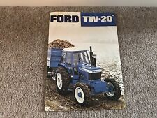 FORD  TRACTOR TW20 Leaflet Sales Brochure