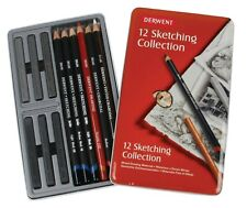 Derwent Sketching Collection 12 Tin Assorted Set Pencils, Graphite, Charcoal