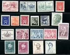 LOT 80492 MINT H  COLLECTION OF  STAMPS FROM THE  1940'S CZECHOSLOVAKIA