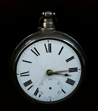 ANTIQUE STERLING SILVER POCKET WATCH SIZE 18