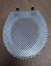 WILARDY FACETED ACRYLIC TOILET SEAT lucite plexi vintage hollis jones RARE