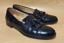 Alfani Made In Italy Loafers Tassel Black Leather Dress Mens Shoes 10.5 M