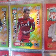RARE Adrenalyn xl 2011/2012 Liverpool fc ultimate card Jamie carragher
