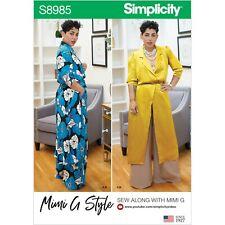 Simplicity 8985 Women Sz 10-28 Long Jacket Duster Wide Leg Palazzo Pant Pattern