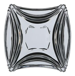 Set of 6 Glass Rippled Side Plates 16cm Square Glass Plates Made in Japan