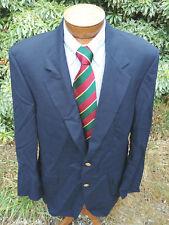 44 L Savile Row Mens Blazer Sport Coat Jacket 2 Gold Button Dark Navy