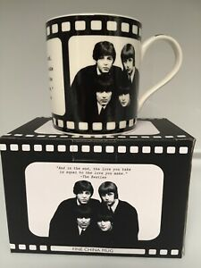The Beatles Icons Mug cup Fine China Gift Display Boxed New Great Gift