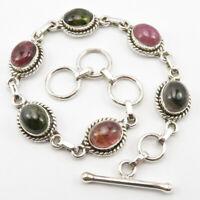 """Tourmaline Bracelet 7.8"""" Women Wholesale Jewelry Sterling Silver"""
