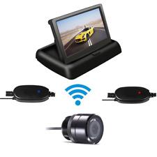 "WIRELESS CAR REAR VIEW KIT 4.3"" LCD MONITOR + IR Night Vision REVERSING CAMERA A"