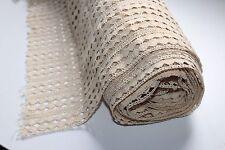 Ancien et important coupon de dentelle coton largeur 90 cm x longueur 1180 cm