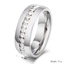 Diamond Wedding Band Ring 0.55 Ct Round Cut 14K White Gold Finish Anniversary