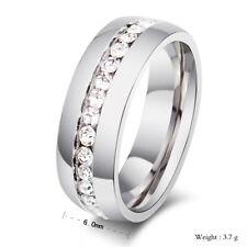 Diamond Wedding Band Ring 0.55 Ct Round Cut 14K White Gold Finish Anniversary