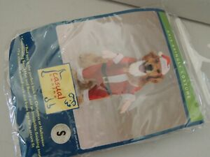 NEW IN BAG CASUAL CANINE KRIS KRINGLE DOGGIE COSTUME SIZE S