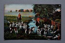 R&L Postcard: Horse & Hound Hunting Scene, TEL 865