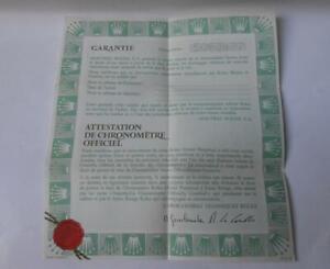 Vintage Original Datejust 1601 Document Paper Chonometer