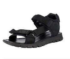 Prada Men's Black Nylon And Leather Sandals Size 10.5