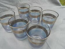 Vintage Turkey Pasabahce   6 Old Fashioned Glass Tumbler  Blue & Gold Decorated