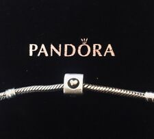Authentic Pandora Heart of Gold Charm 790305 Sterling & 14k Gold Retired