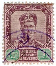 (I.B) Malaya States Revenue : Johore Duty $1
