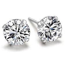 SALE: 6mm Silber Zirkonia Ohrstecker Ohrstick Earring aus 925 Sterlingsilber