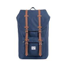 NWT Herschel Supply Co. Little America Backpack Navy/Tan Bookbag Bag